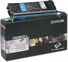 Toner Lexmark (C5220CS), 3000 stron, cyan (błękitny)