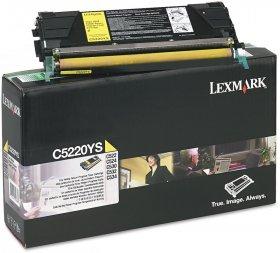 Toner Lexmark (C5220YS), 3000 stron, yellow (żółty)