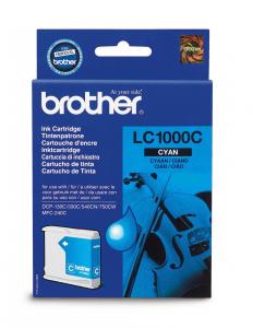 Tusz Brother (LC1000), 400 stron, cyan (błękitny)