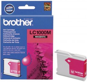 Tusz Brother (LC1000M), 400 stron, magenta (purpurowy)