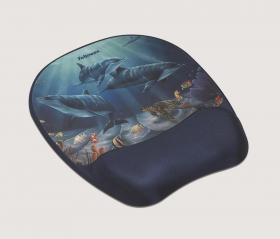 Podkładka pod mysz i nadgarstek Fellowes Memory Foam, 200x20x230 mm, delfiny