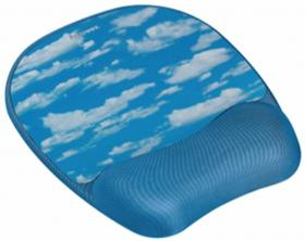 Podkładka pod mysz i nadgarstek Memory Foam Fellowes, 200x20x230 mm, chmury