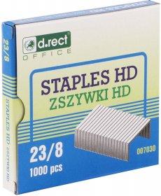 Zszywki D.Rect HD 23/8, 1000 sztuk, srebrny