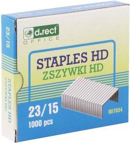 Zszywki D.Rect HD 23/15, 1000 sztuk, srebrny