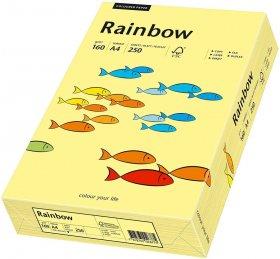 Papier ksero ekologiczny Rainbow Papyrus, A4, 160g/m2, 250 arkuszy, jasny żółty (R12)