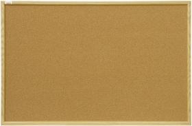 Tablica korkowa, 2x3, w ramie MDF, 90x60cm, brązowy