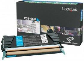 Toner Lexmark (C5340CX), 7000 stron, cyan (błękitny)