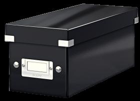 Pudełko na płyty CD/DVD Leitz Click&Store Wow, 143x136x352mm, 1 sztuka, czarny