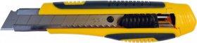 Nożyk z wymiennym ostrzem, Deli, 15.5cm, wzmocniony, żółty