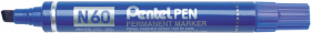 Marker permanentny Pentel N60, ścięta, 5.5 mm, niebieski