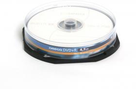 Płyta DVD+R Omega, do jednokrotnego zapisu, 4.7 GB, cake box, 10 sztuk