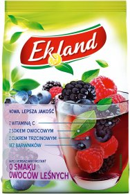 Herbata rozpuszczalna Ekland, owoce leśne z witaminą C, 300g