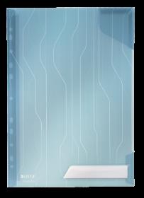 Folder groszkowy Leitz CombiFile, A4, do 40 kartek, 200µm, 5 sztuk, niebieski