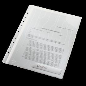 Folder groszkowy Leitz CombiFile, usztywniony, A4, do 20 kartek, 200 µm, 3 sztuki, transparentny