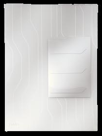 Folder groszkowy Leitz CombiFile, z 3 przekładkami, A4, do 60 kartek, 200µm, 3 sztuki, transparentny