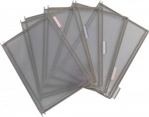 Panele prezentacyjne, Tarifold, A4, 10 sztuk, szary