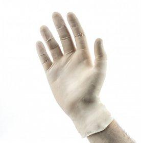 Rękawiczki lateksowe, rozmiar M, 1 para, biały