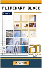 Blok do flipchartów Interdruk, 100X64cm, gładki, 20 kart