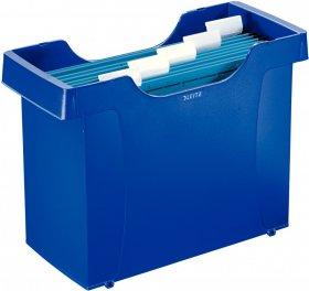 Pojemnik na 20 teczek zawieszanych Leitz Plus, A4, 370x280x162mm, niebieski