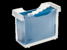 Pojemnik na 20 teczek zawieszanych Leitz Plus, A4, 370x280x162mm, mleczny