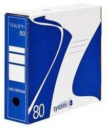 Pudło archiwizacyjne VauPe, do luźnych dokumentów, 80mm, niebieski