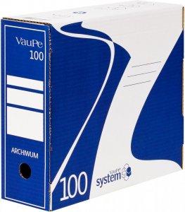 Pudło archiwizacyjne VauPe, do luźnych dokumentów, 100mm, niebieski