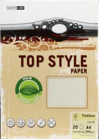 Papier ozdobny Top Style, Tradition, A4, 250g/m2, 20 arkuszy, kość słoniowa