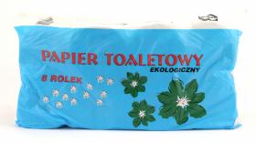 Papier toaletowy Mawa, 1-warstwowy, 8 rolek, szary