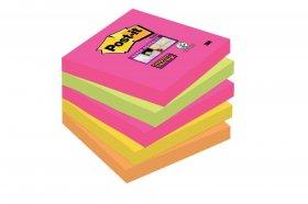 Notes samoprzylepny Post-it Super Sticky, 76x76 mm, 5x90 karteczek, mix kolorów neonowych