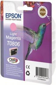 Tusz Epson T0806 (C13T08064011), 520 stron, light magenta (jasny purpurowy)