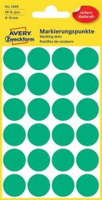 Etykiety Avery Zweckform, okrągłe, średnica 18mm, 96 sztuk, zielony