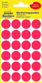 Etykiety Avery Zweckform, okrągłe, średnica 18mm, 96 sztuk, czerwony