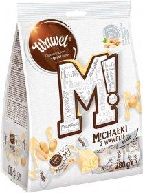 Cukierki Michałki zamkowe Wawel, orzechowy w białej czekoladzie, 280g