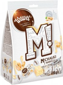 Cukierki Michałki Wawel, orzechowy w białej czekoladzie, 280g
