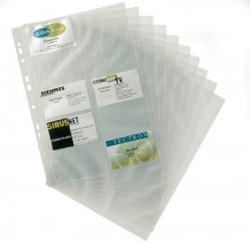 Wkłady do wizytownika Durable, Visifix, na 200 wizytówek, transparentny
