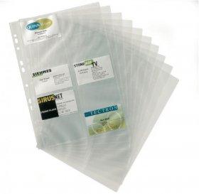 Wkłady do wizytownika Durable, Visifix, na 200 wizytówek, 10 sztuk, transparentny