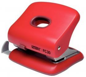 Dziurkacz biurowy Rapid Fashion FC30, do 30 kartek, czerwony