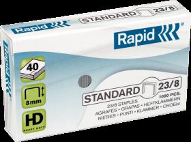 Zszywki Rapid Standard 23/8, 1000 sztuk, srebrny