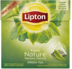 Herbata zielona w piramidkach Lipton Green Tea Nature, 20 sztuk x 1.5g