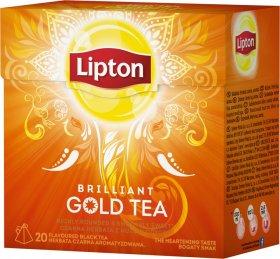 Herbata czarna w piramidkach Lipton Gold, 20 sztuk