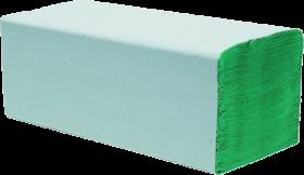 Ręcznik papierowy Papyrus, jednowarstwowy, w składce ZZ, 200 składek, zielony