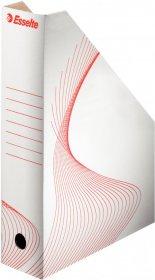 Pojemnik kartonowy na dokumenty Esselte, A4, 80mm, do 800 kartek, biały