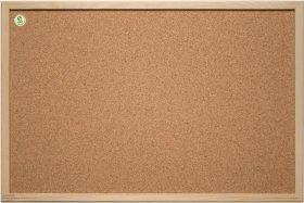 Tablica korkowa 2x3, w ramie drewnianej, 60x40cm, brązowy
