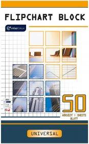 Blok do flipchartów Interdruk, 100x64cm, gładki, 50 kart