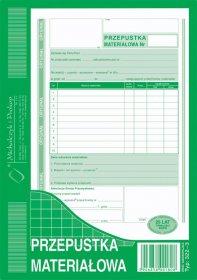 Druk akcydensowy przepustka materiałowa MiP, A5, 80 kartek
