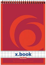 Kołonotatnik Herlitz, A7, w kratkę, 50 kartek, mix kolorów
