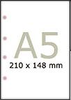 Papier satynowany A5 100g z 4 dziurkami