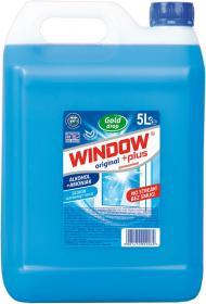 Płyn do mycia szyb Window Plus Gold Drop, z amoniakiem, 5l
