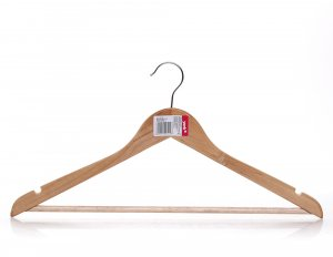 Wieszak drewniany na ubrania York, brązowy jasny