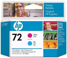 Głowica HP C9383A nr 72, cyan (błękitny)/magenta (purpurowy)